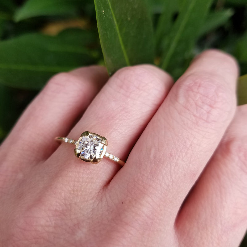 ae46d91a0ae02 Lily Solitaire Ring – Bethanie Jewelry Design