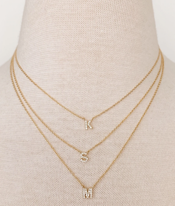 Lou Initial Necklace