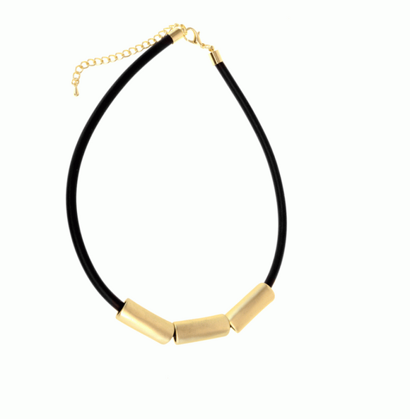 Joy  Gold Pipe Necklace