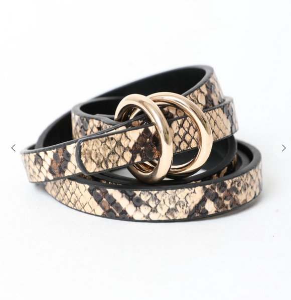 Double Skinny Snake Belt