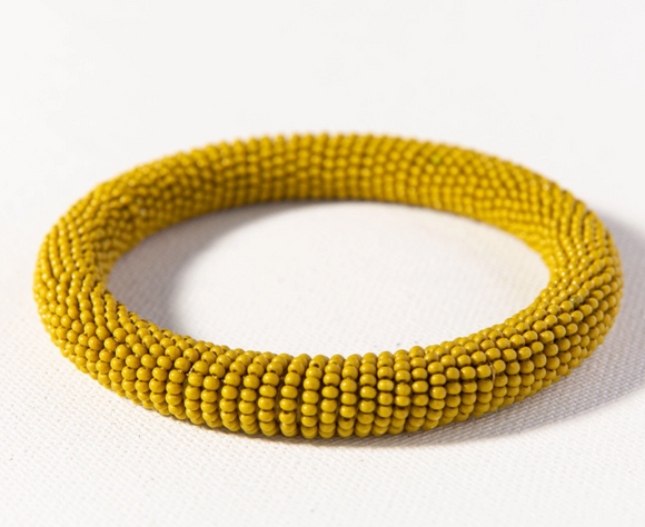 Citron Seed Bead Bangle