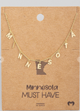 Minnesota Print Necklace
