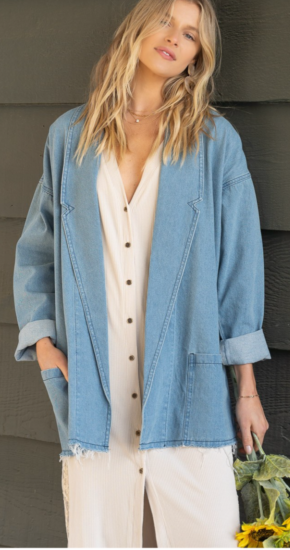 The Beth Denim Shacket