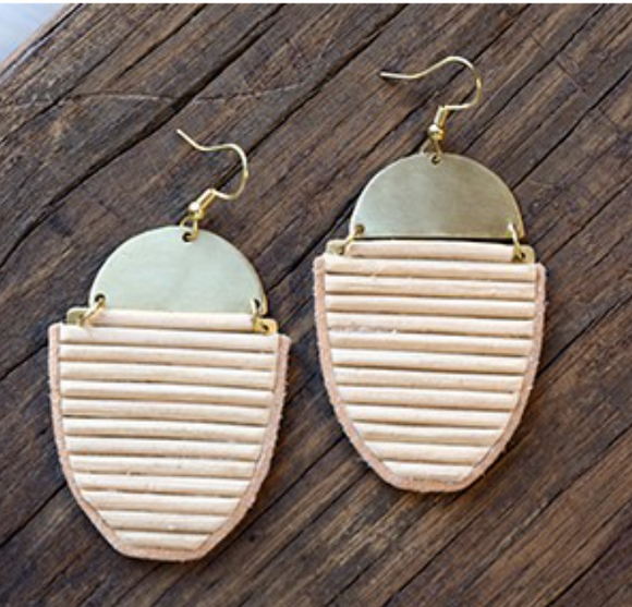 Panache Brushed Wicker Earring