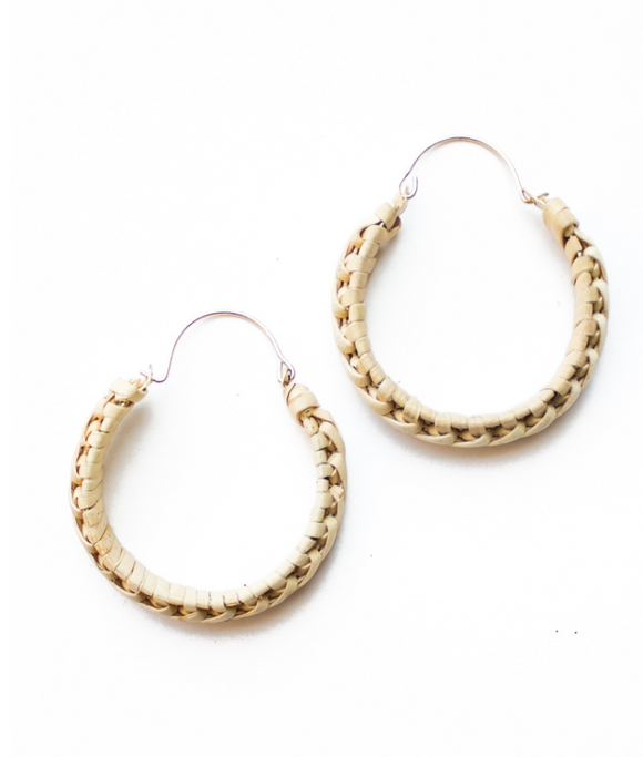 Panache Wicker Hoop Earring