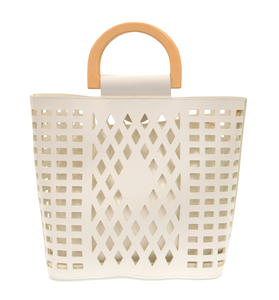 White Madison Tote