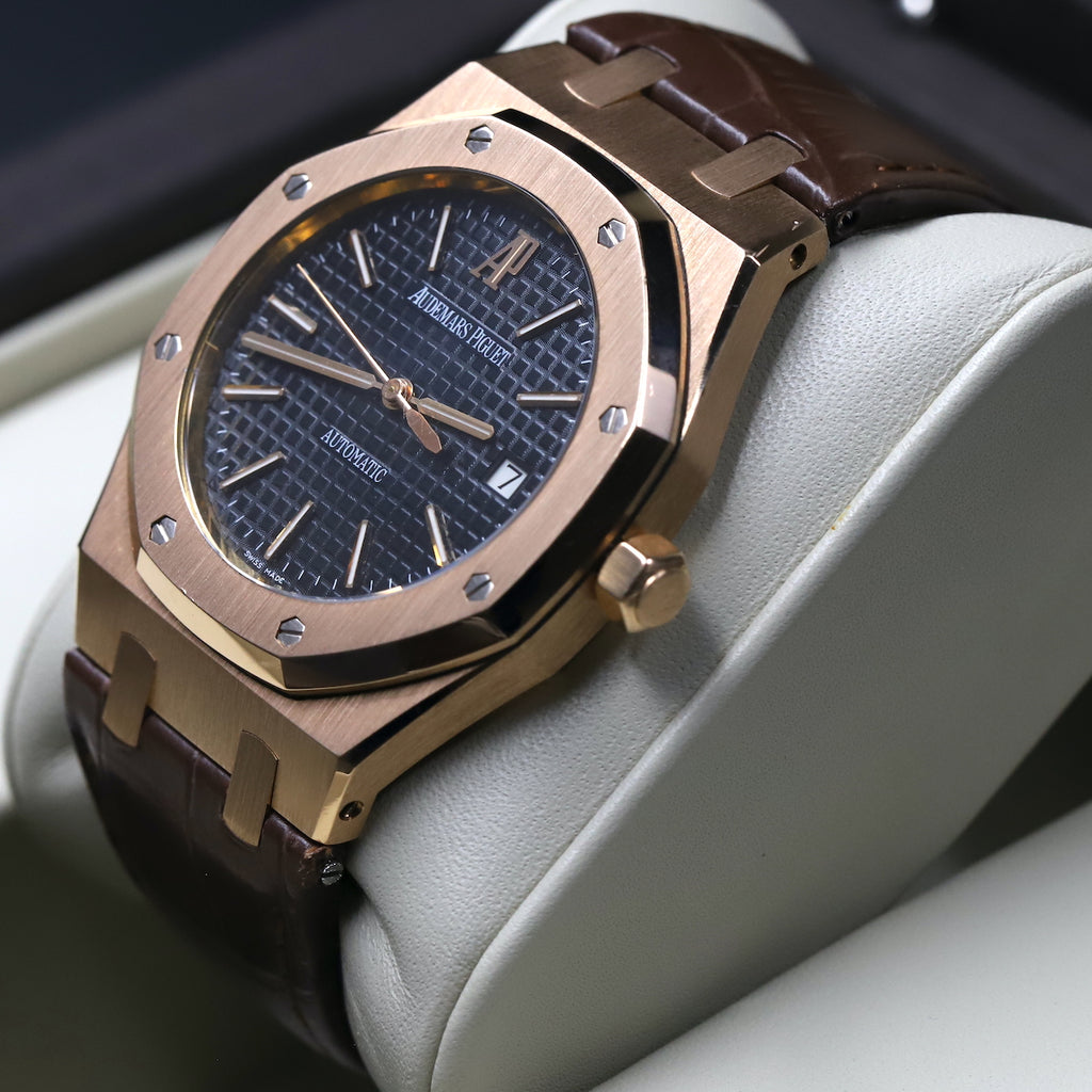 Audemars Piguet 15300OR Royal Oak Black Dial