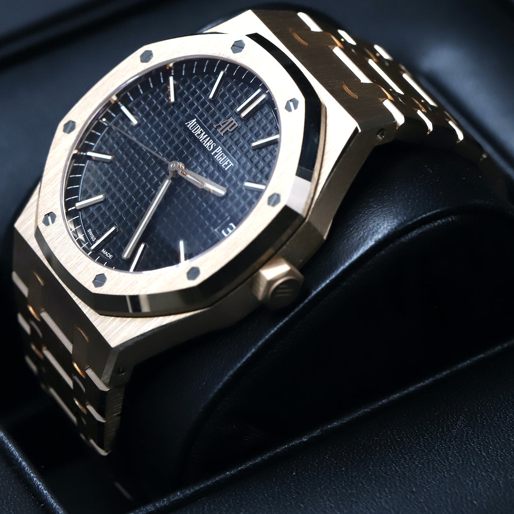 Audemars Piguet 15500OR Royal Oak Black Dial