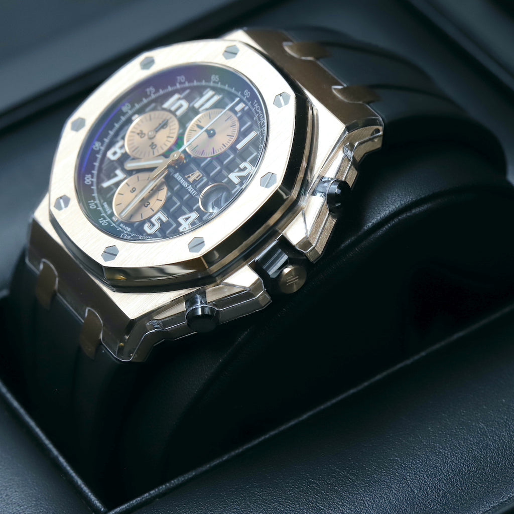 Audemars Piguet 26470OR Royal Oak Offshore 'Brick' Black Dial