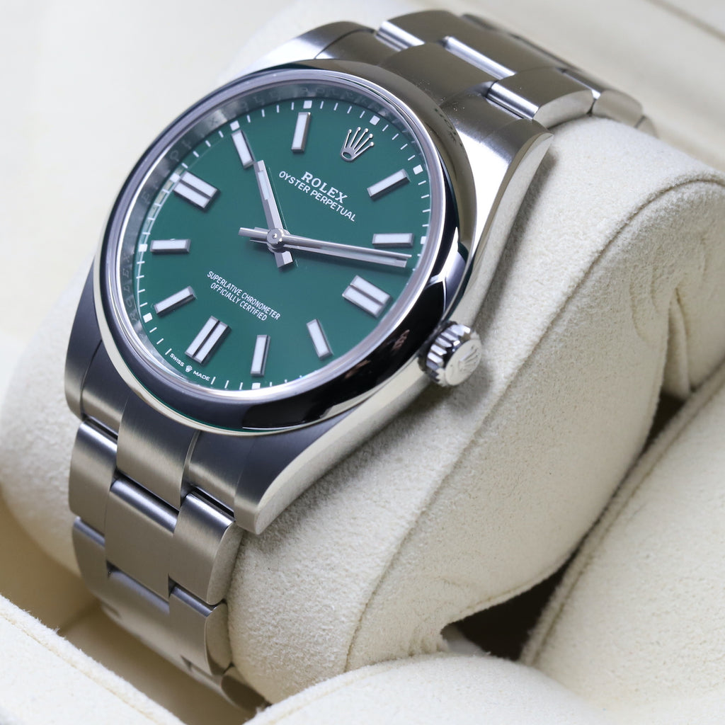 Rolex 124300 Oyster Perpetual 41mm Green Dial