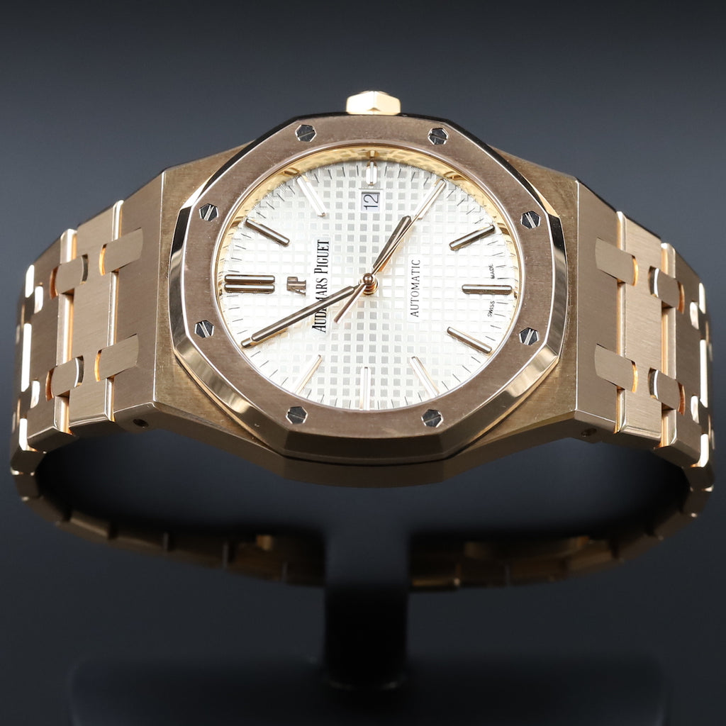 Audemars Piguet 15400OR Royal Oak White Dial