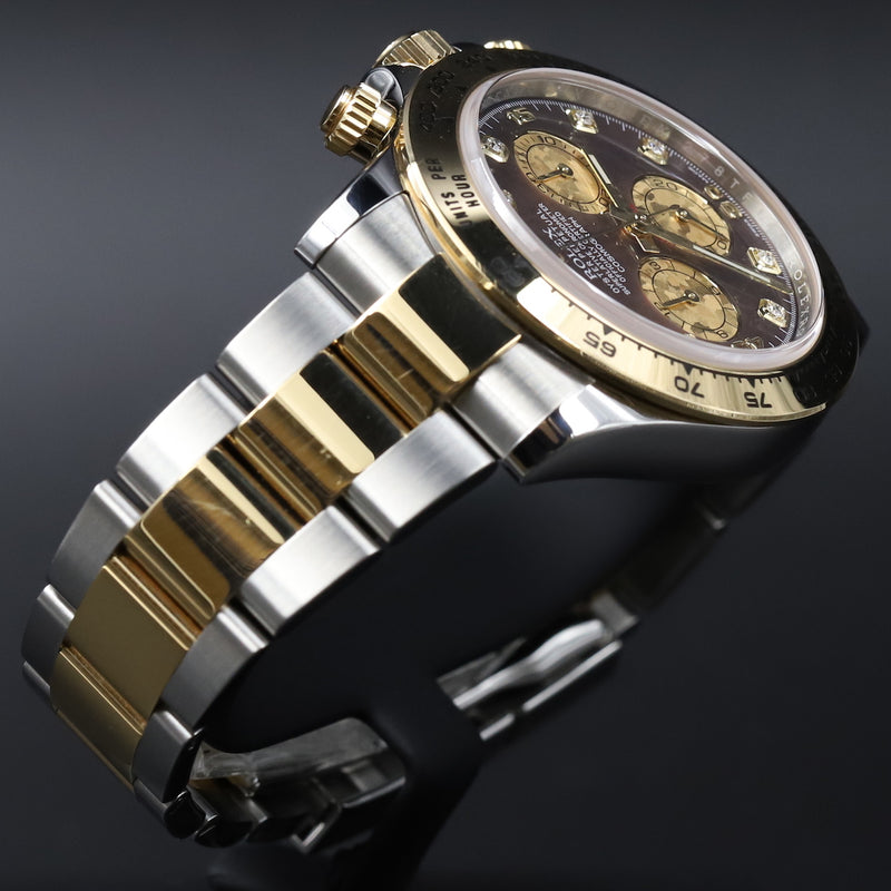 Rolex 116503 Daytona SS/18k Black Mother of Pearl Dial