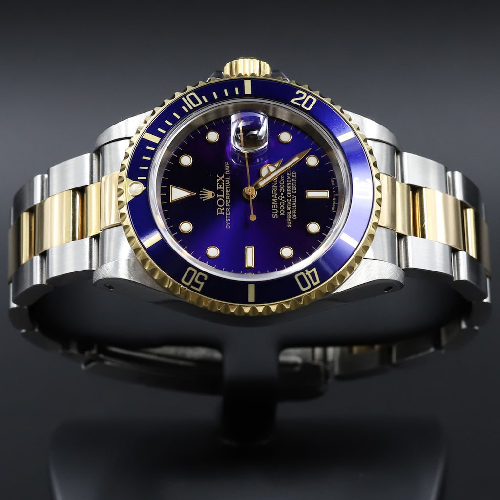 Rolex 16613 Submariner SS/18k Blue Dial