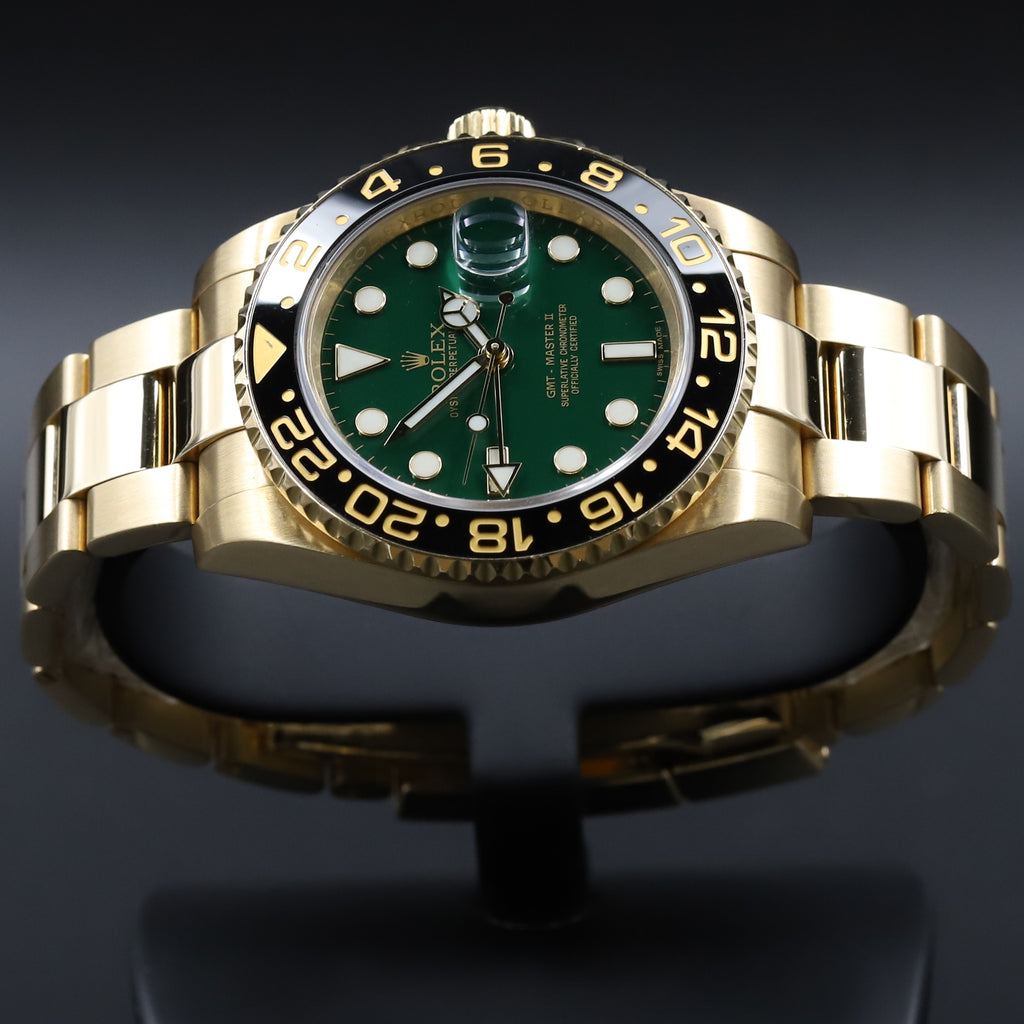 Rolex 116718 GMT Master II Green Dial