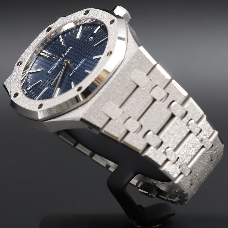 Audemars Piguet 15410BC Royal Oak Frosted Gold Blue Dial