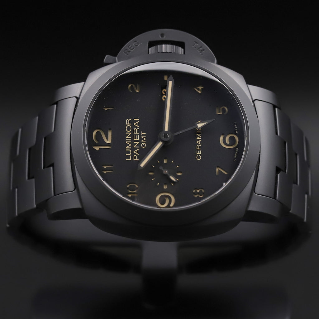 Panerai PAM 00438 Luminor Tuttonero 1950 3 Days GMT Automatic Ceramica