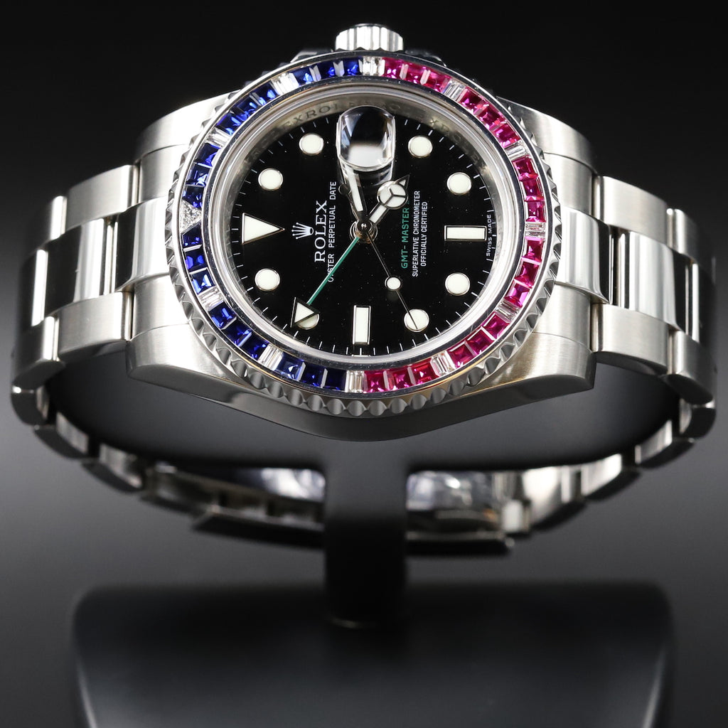 Rolex 116710LN GMT Master II Custom Diamond