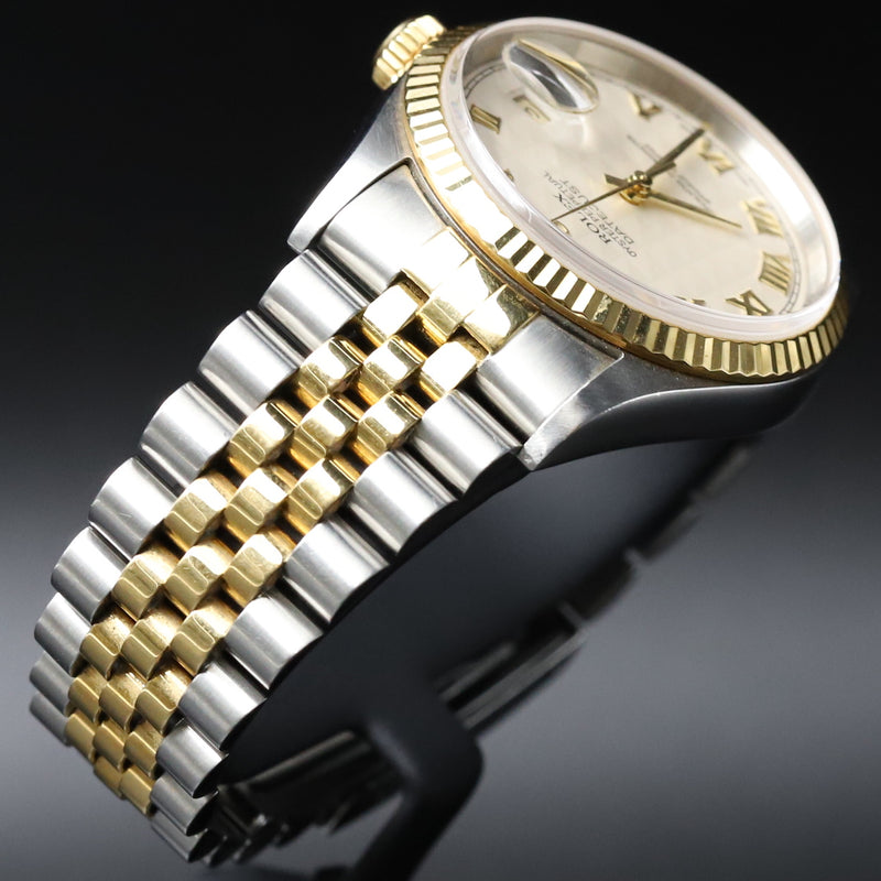 Rolex 16013 Datejust 36 SS/18k White Dial