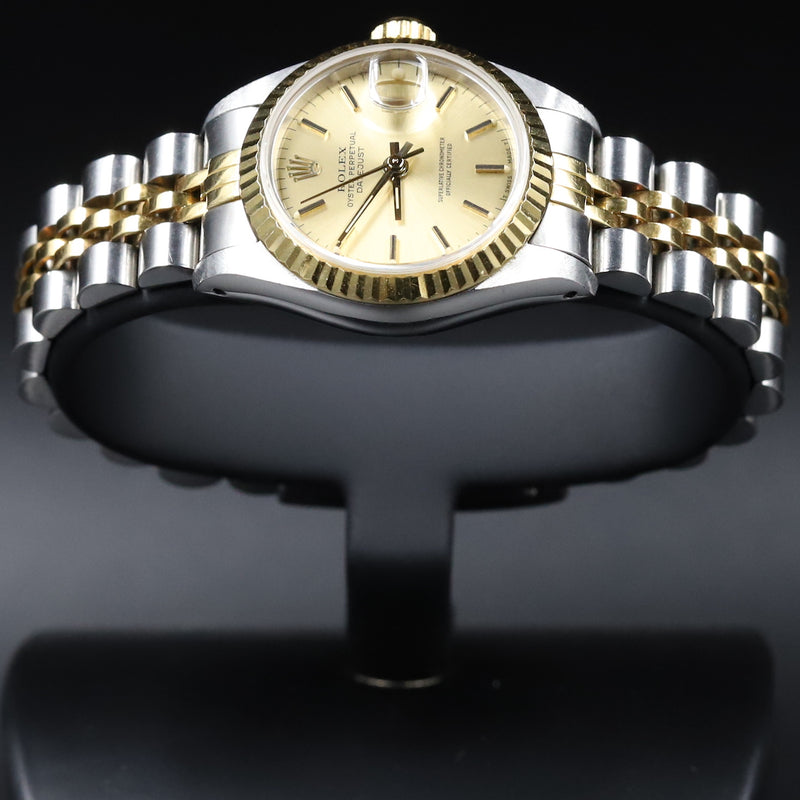 Rolex 179173 Datejust 26 18k/SS Champagne Index Dial