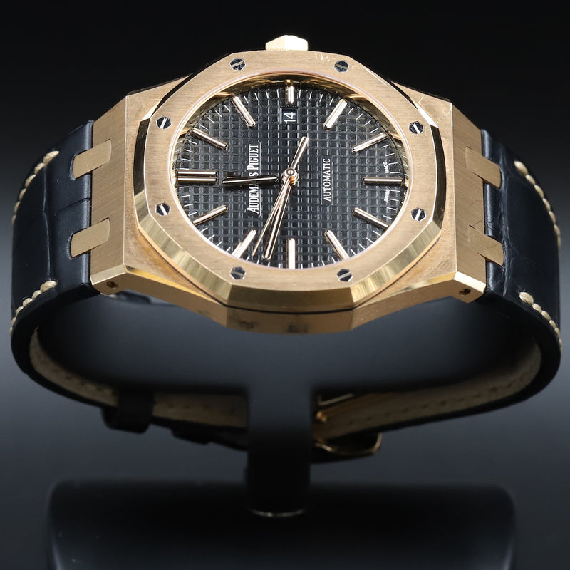 Audemars Piguet 15400OR Royal Oak Black Dial