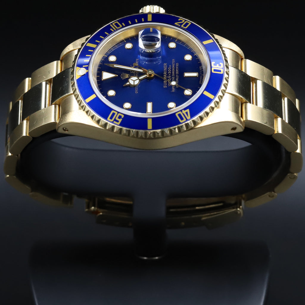 Rolex 16618LB Submariner Blue Dial