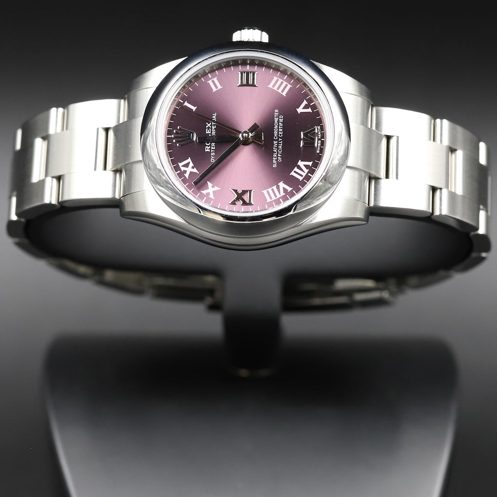 Rolex 177200 Oyster Perpetual 31 Red Grape Dial