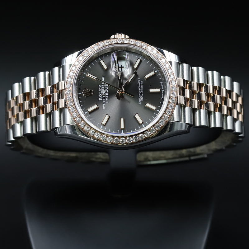 Rolex 116334 Datejust II Silver Diamond Dial