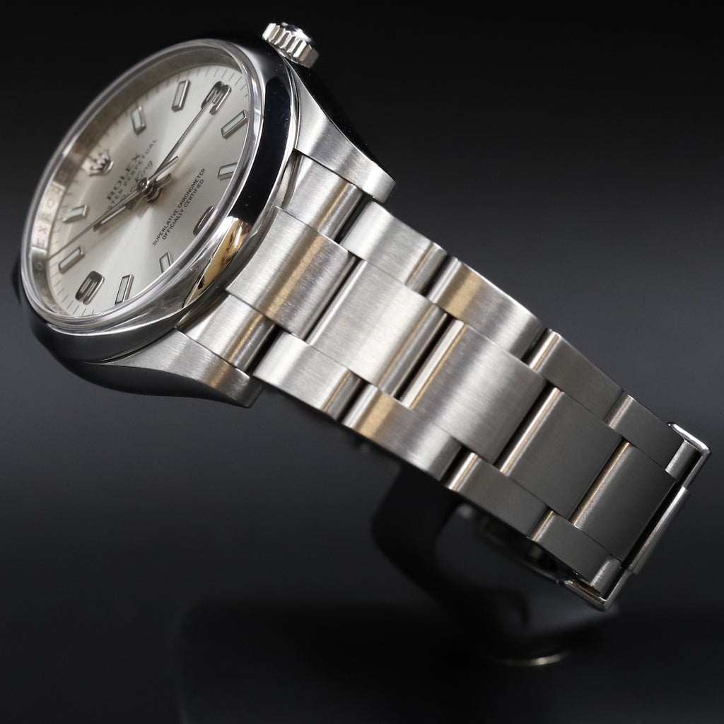 Rolex 114200 Oyster Perpetual Air King 34 Silver Dial