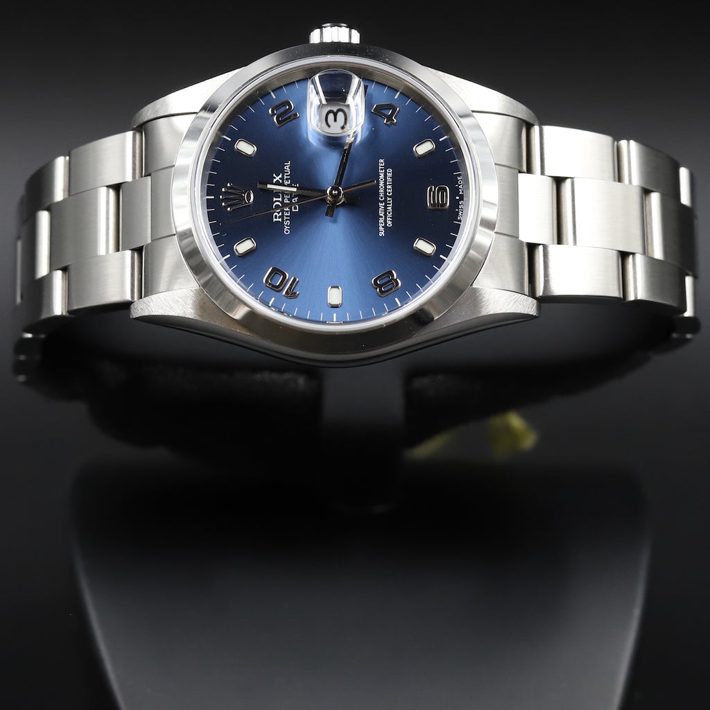 Rolex 15200 Oyster Perpetual Date 34mm Blue Dial