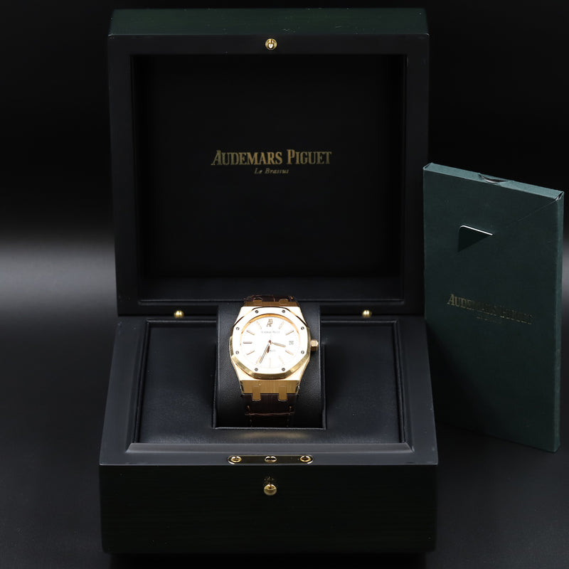 Audemars Piguet 15300OR Royal Oak White Dial