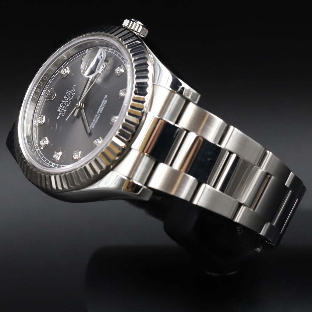 Rolex 116334 Datejust II Rhodium Diamond Dial