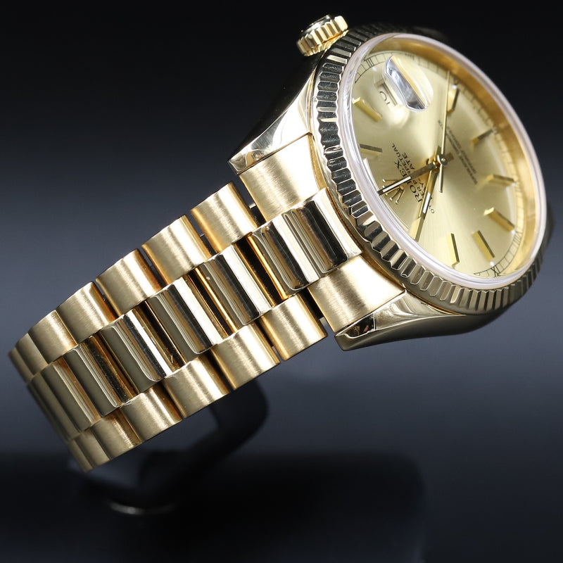 Rolex 118238 DayDate 36 Double Quickset Champagne Index Dial