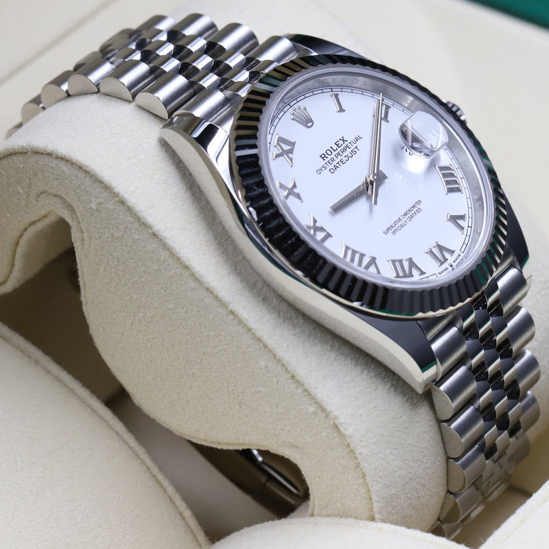 Rolex 126334 Datejust 41 White Dial