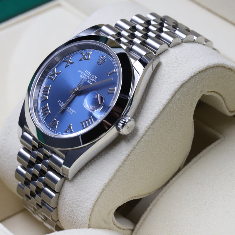 Rolex 126300 Datejust 41 Blue Dial