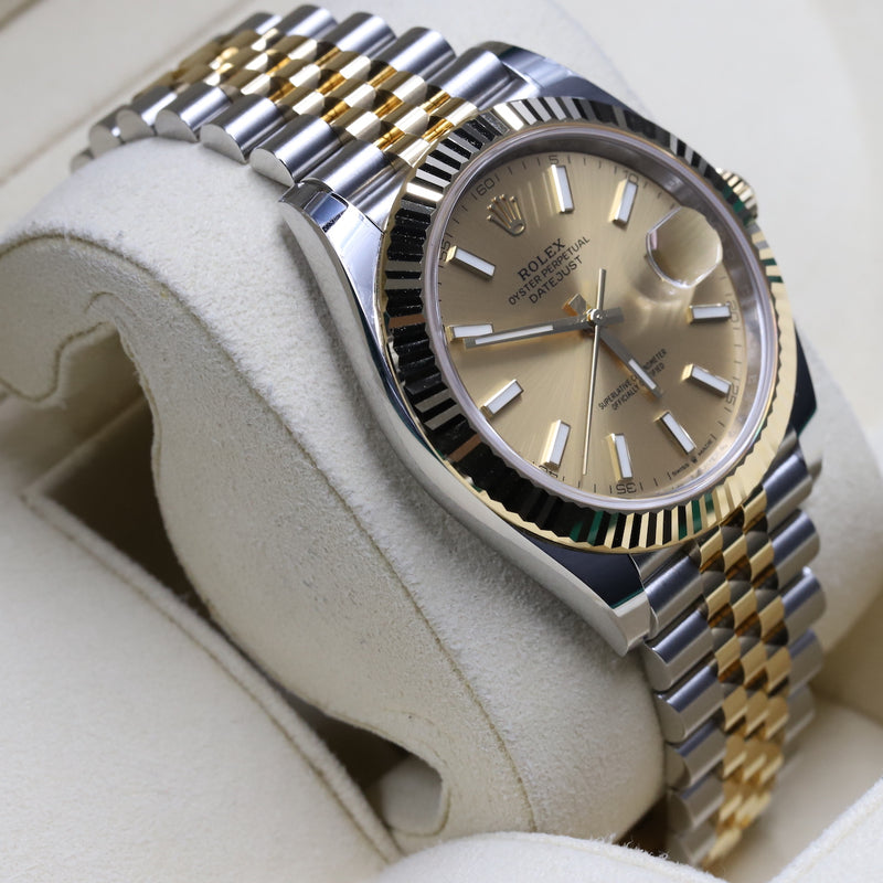 Rolex 126333 Datejust 41 18k/SS Champagne Index Dial
