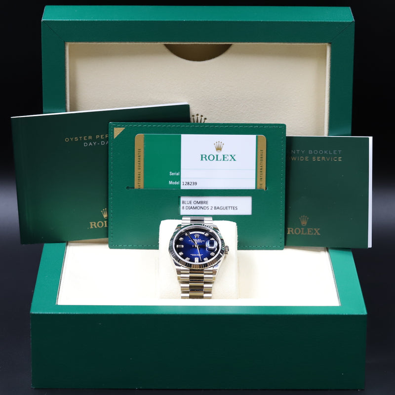 Rolex 128239 Day-Date 36 Blue Ombre Dial