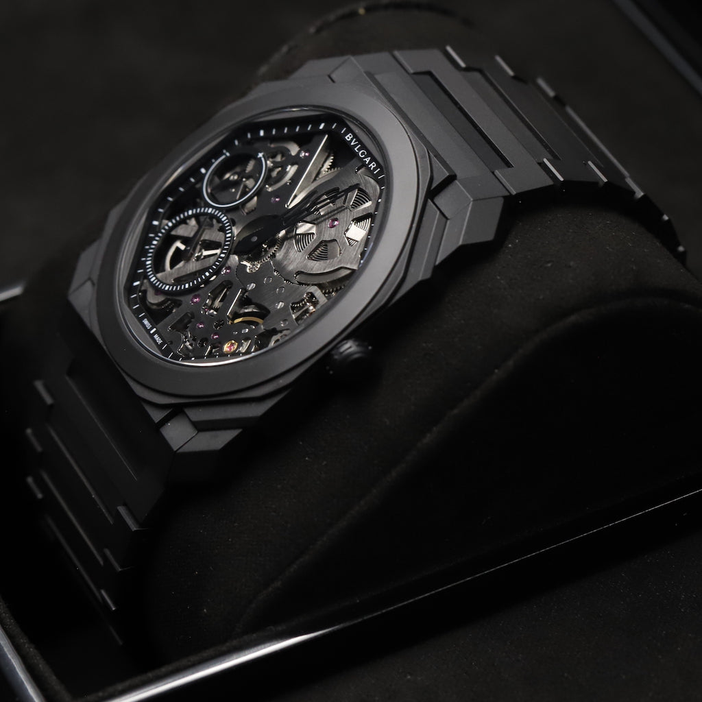 Bulgari 103126 Octo Finissimo Skeleton Black Ceramic