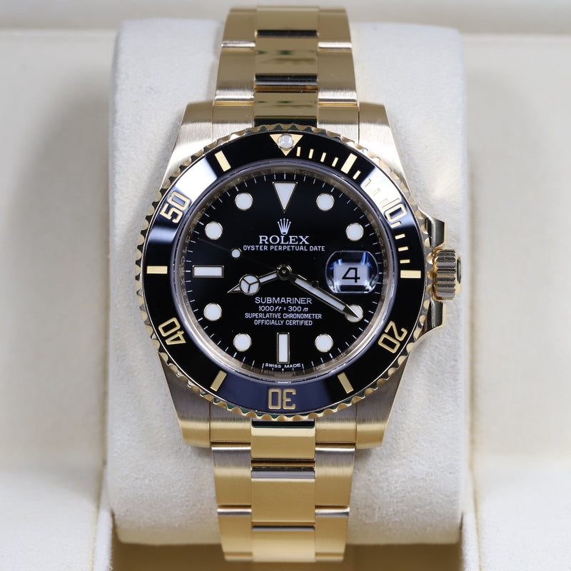 Rolex 116618LN Submariner Black Dial