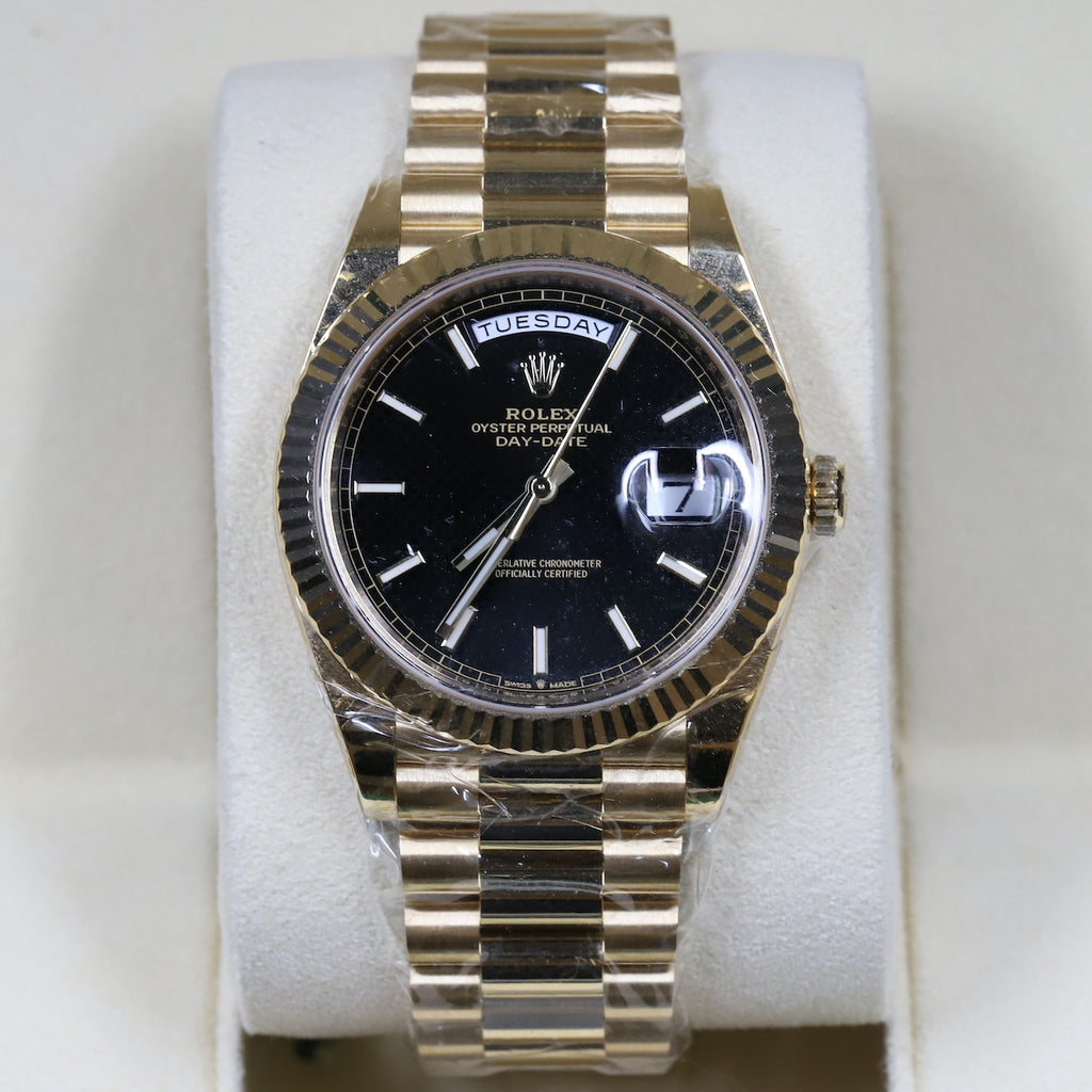 Rolex 228238 DayDate 40 Black Index Dial