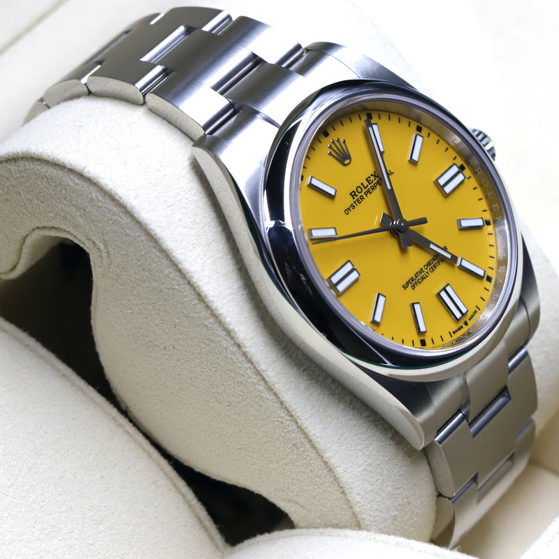 Rolex 124300 Oyster Perpetual 41mm Yellow Dial