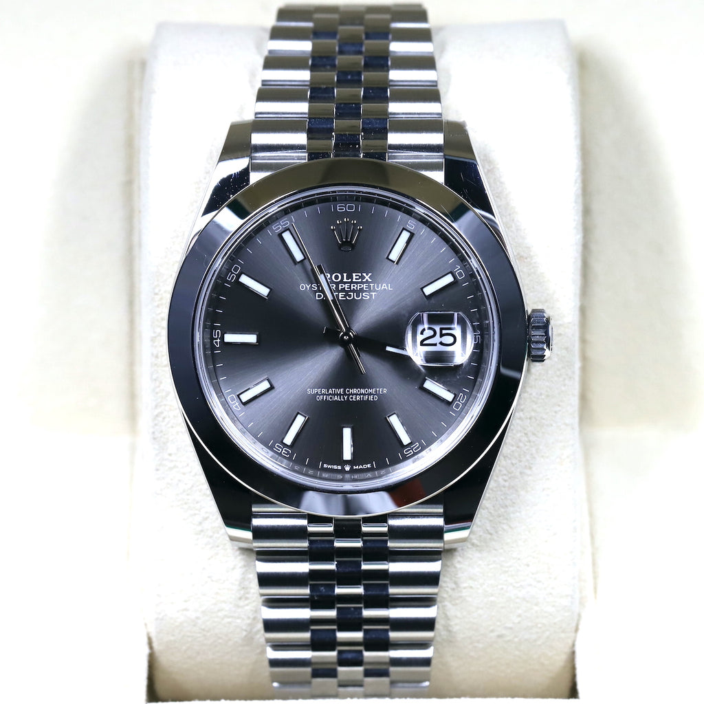 Rolex 126300 Datejust 41 Slate Dial
