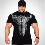 Cotton Casual Gym Muscle Training T-Shirt