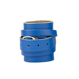 Leather Weightlifting Wristbands (1 Pair) Blue
