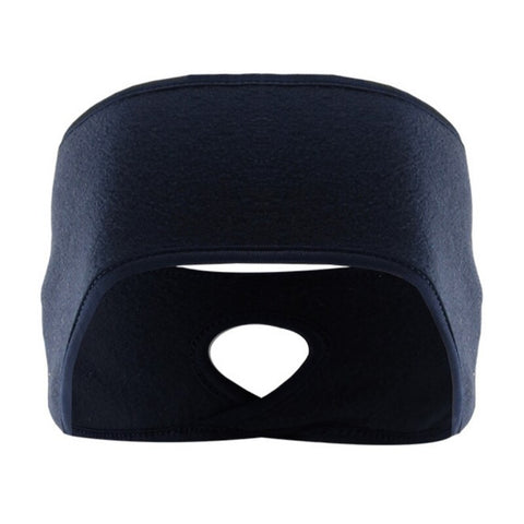 Winter Polar Fleece Sport Headband Blue Pampas Fox Fitness