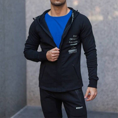 Autumn Winter Gym Sweatshirt Zipper Hoodie