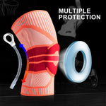 Elastic Silicon Padded Basketball Knee Support
