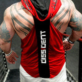 Bodybuilding Stringer Hooded Tank Top Back View