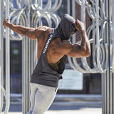 Summer Mesh Breathable Hooded Tanks Top Gray