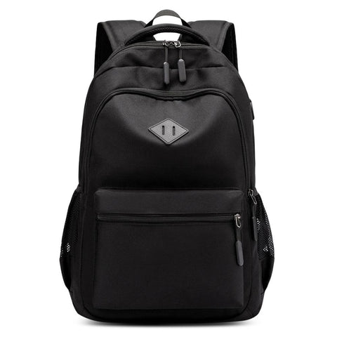 Backpack - Classic Style USB Charging Laptop Backpack