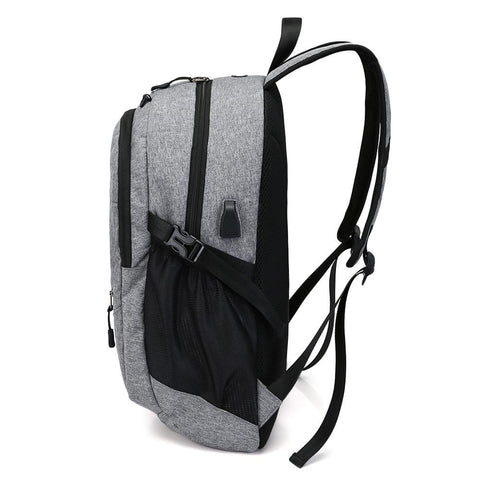 Backpack - Large Capacity Travel Backpack With USB Charge Port Earphone Hole